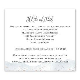 Wedding Reception Cards: Watercolor Burst Information Card