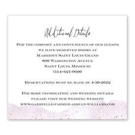 Watercolor Burst - Plum - Information Card