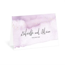 Watercolor Burst - Plum - Thank You Card