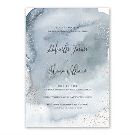 Watercolor Burst Invitation with Free Response Postcard
