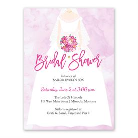 The Bride - Bridal Shower Invitation
