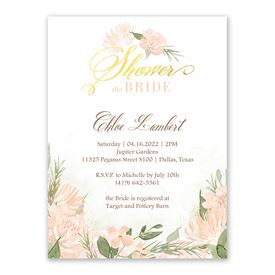 Pretty In Peach - Bridal Shower Invitation