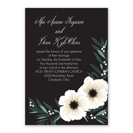 Anemone Blossom Invitation with Free Response Postcard