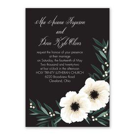 Anemone Blossom Invitation with Free Response Postcard