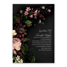 Baroque Beauty Invitation with Free Response Postcard