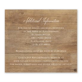 Wedding Reception Cards: Rustic Photo Information Card
