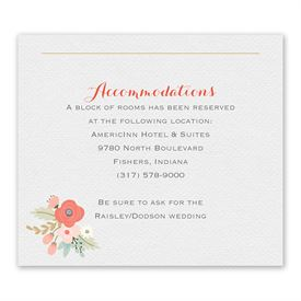 Pretty Posies - Information Card