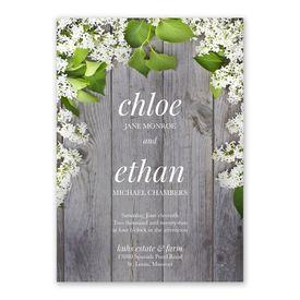 Spring Floret Invitation with Free Response Postcard
