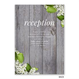 Spring Floret - Invitation with Free Response Postcard