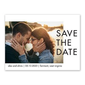 More Minimal Save the Date