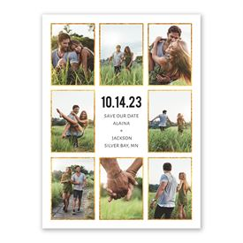 Modern Save The Dates: Sparkling Frames Save the Date