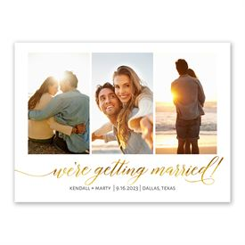Gold Script Save the Date