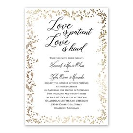 Love is Patient - Invitation with Free Response Postcard