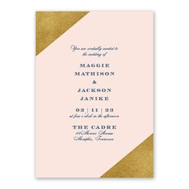 Gold Dipped Invitation with Free Response Postcard