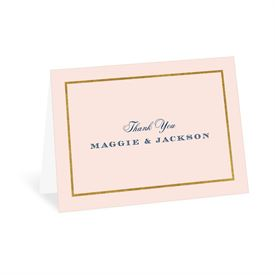 Wedding Thank You Cards: Gold Dipped Thank You Card