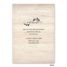 Raw Elegance - Invitation with Free Response Postcard