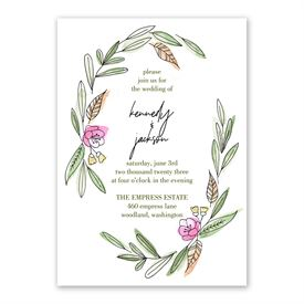 Posy Sketch - Invitation with Free Response Postcard