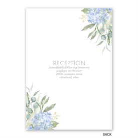 Blue Hydrangea - Invitation with Free Response Postcard
