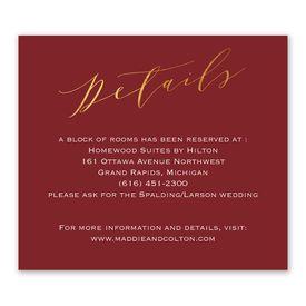 Wedding Reception Cards: We Do Information Card
