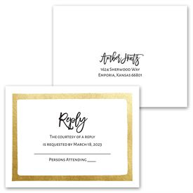 Love Framed - Invitation with Free Response Postcard