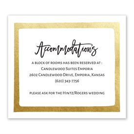 Love Framed - Information Card