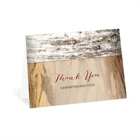 Carved Birch - Thank You Card