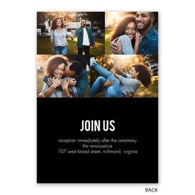 Minimalist Modern - Invitation with Free Response Postcard