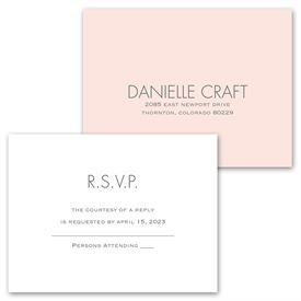 Gold Ampersand - Invitation with Free Response Postcard