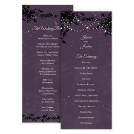 Wedding Programs: String of Lights Wedding Program