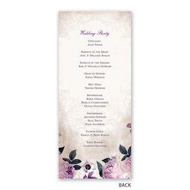 Victorian Floral - Wedding Program