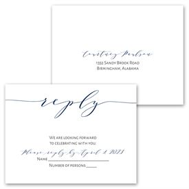 Swept Away - Invitation with Free Response Postcard