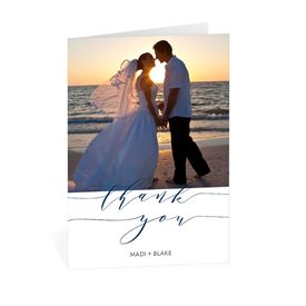 Swept Away - Thank You Card