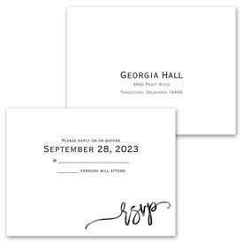 Simplicity - Invitation with Free Response Postcard