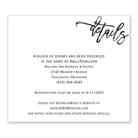 Simplicity - Information Card