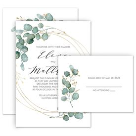 Greenery Wedding Invitations: 