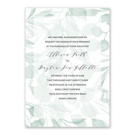 Subdued Invitation with Free Response Postcard