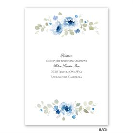 Petite Blooms - Aegean - Invitation with Free Response Postcard