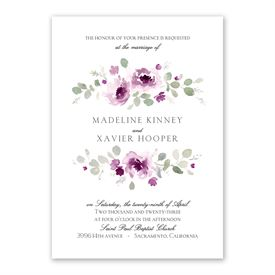 Petite Blooms - Grapevine - Invitation with Free Response Postcard
