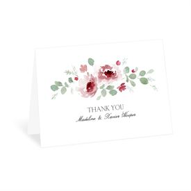 Petite Blooms - Merlot - Thank You Card
