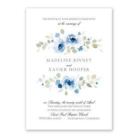 Petite Blooms Invitation with Free Response Postcard