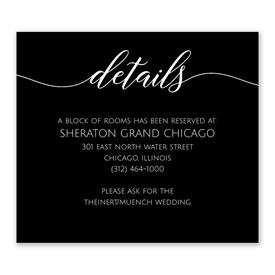 Wedding Reception Cards: From this Day Information Card