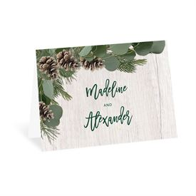 Wedding Thank You Cards: Winter Pine Thank You Card