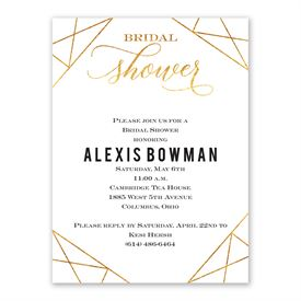 Gold Facets - Bridal Shower Invitation