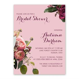 Floral Burst Bridal Shower Invitation