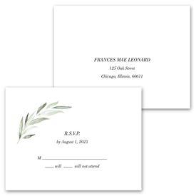 Minimalist Greenery - Invitation with Free Response Postcard