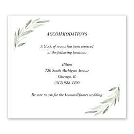 Wedding Reception Cards: Minimalist Greenery Information Card