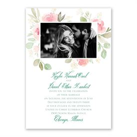 Blossoming Invitation with Free Response Postcard