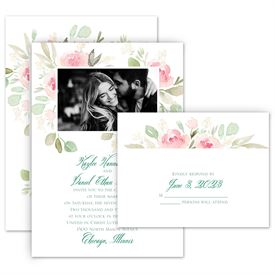 Floral Wedding Invitations: 