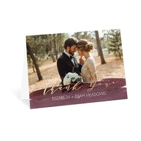 Wedding Thank You Cards: Painted Portrait Thank You Card