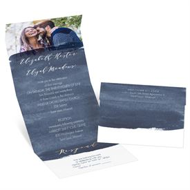 Painted Portrait - Navy - Seal and Send Invitation